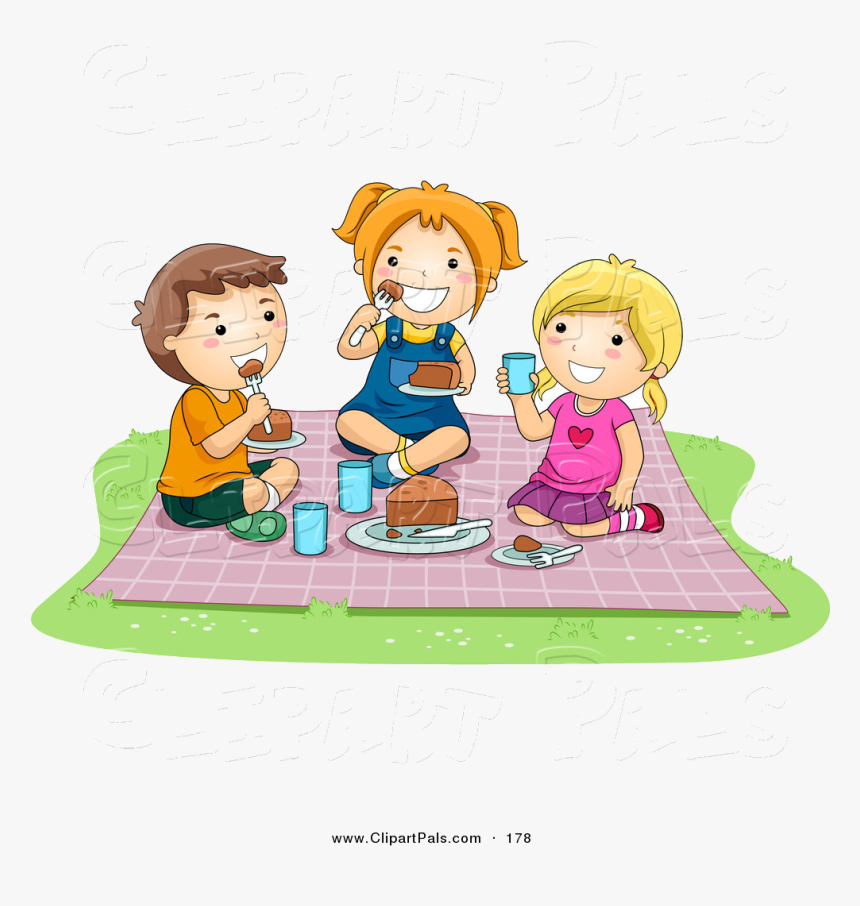 Eating Pal Clipart Of Pair Girls And Boy Food At Picnic Children Eating And Drinking Clipart Hd Png Download Transparent Png Image Pngitem