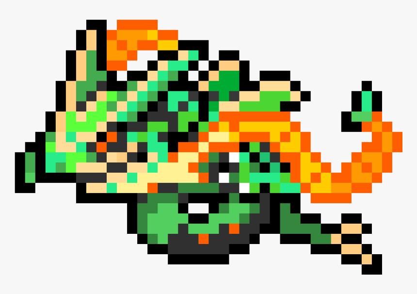 Pixel Art Mega Rayquaza Hd Png Download Transparent Png