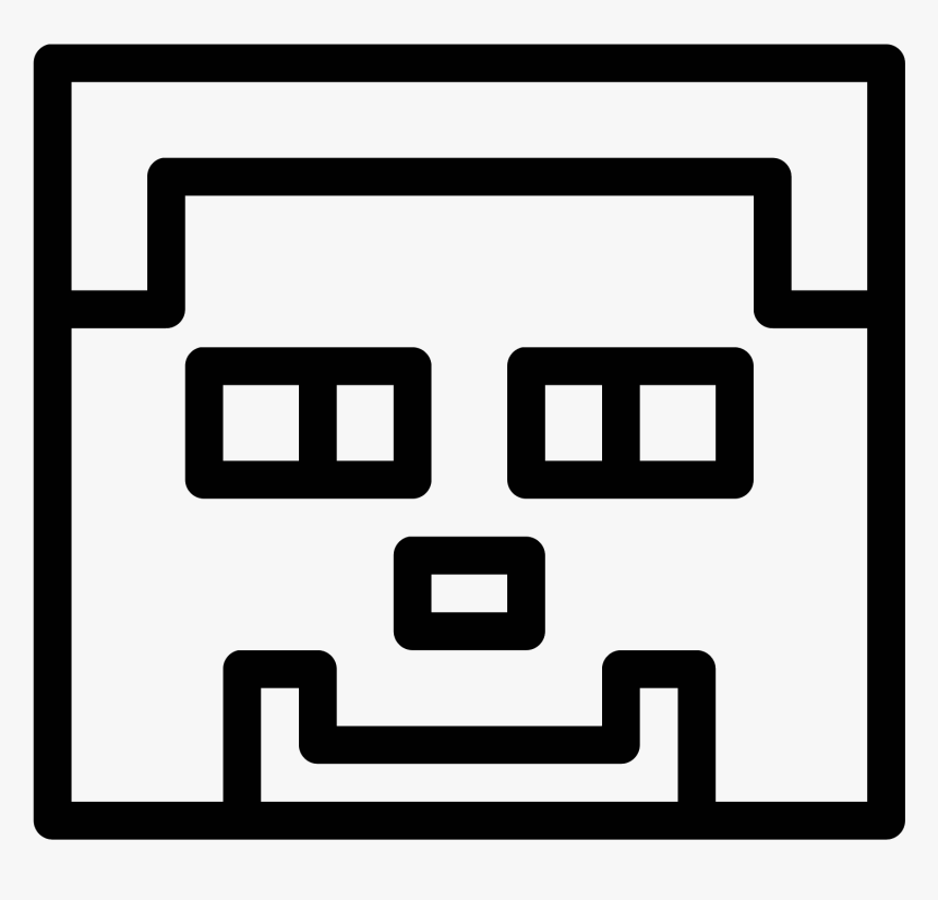 Drawn Minecraft Black And White Black And White Minecraft Clipart Hd Png Download Transparent Png Image Pngitem