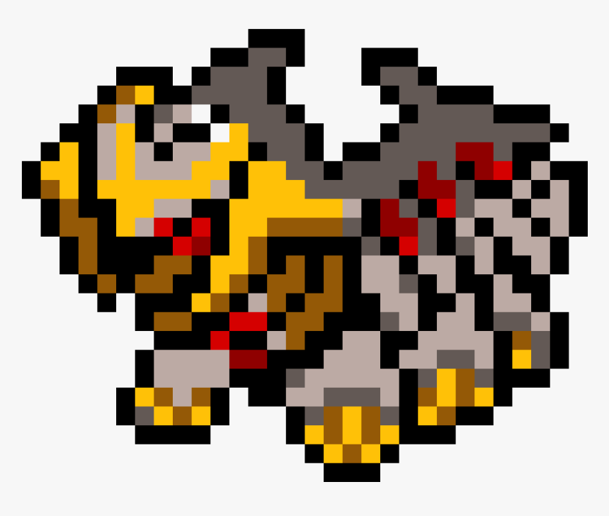 Pixel Art Pokemon Giratina Hd Png Download Transparent