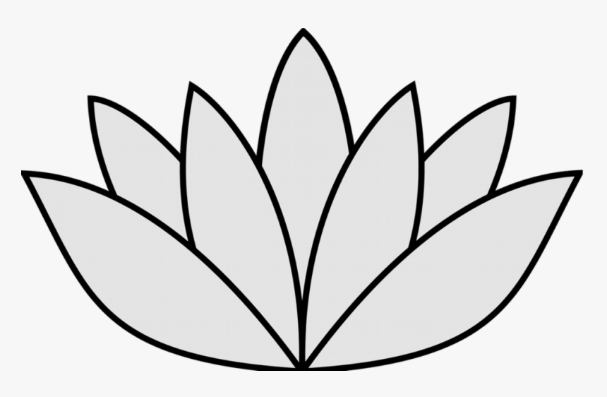 Elegant Image Of Easy To Draw Flowers Easy Drawings Simple Lily Pad Drawing Hd Png Download Transparent Png Image Pngitem