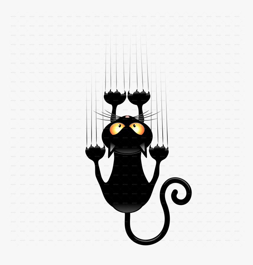 Black Cat Cartoons Group Vector Freeuse Funny Black Cat Drawing Hd Png Download Transparent Png Image Pngitem