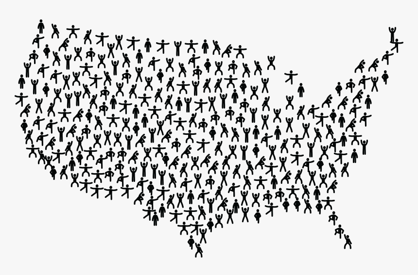 Free Clipart Of A United States Map Of Fitness People ...