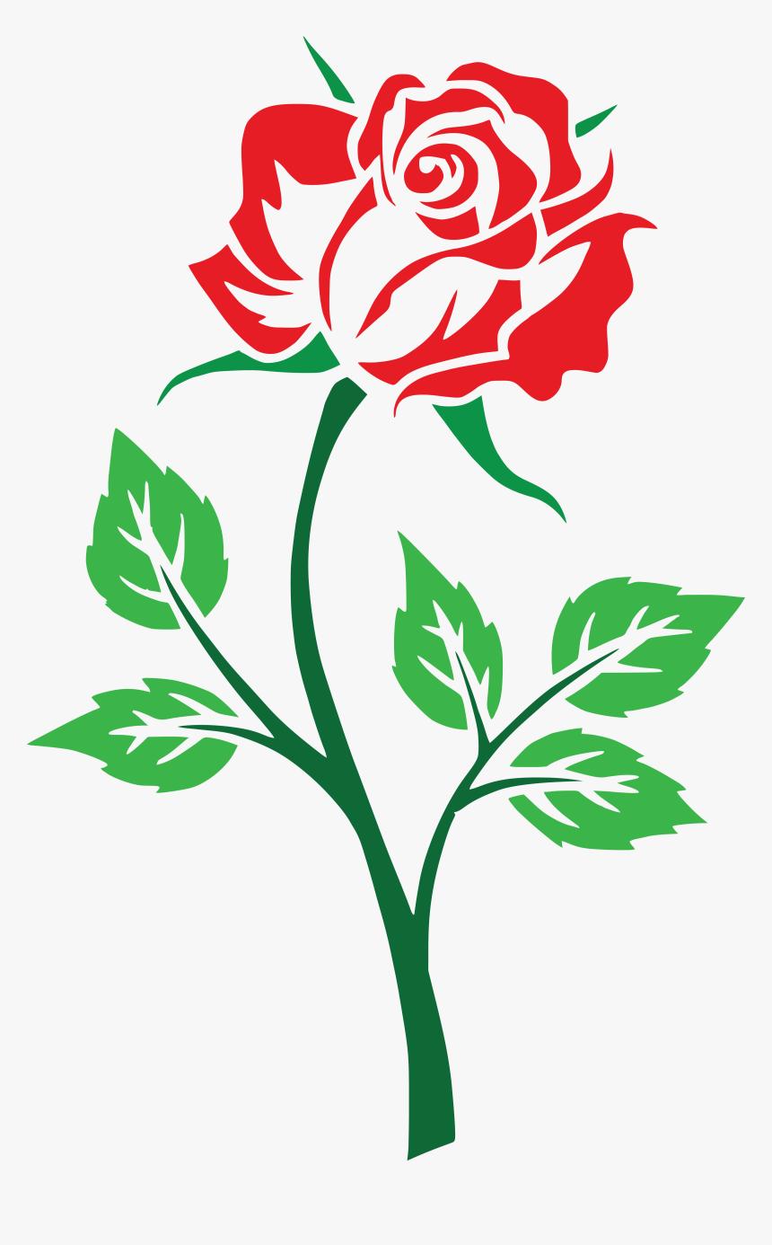 Free Clipart Of A Red Rose Clip Art Rose Flowers Hd Png Download Transparent Png Image Pngitem