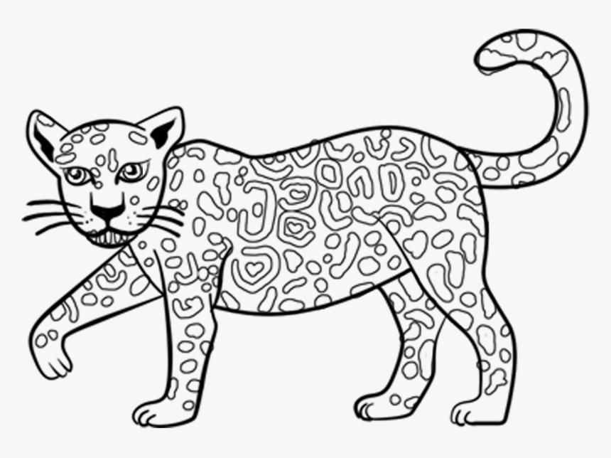 Excellent Cartoon Jaguar Coloring Pages With Jaguar Jaguar Outline Hd Png Download Transparent Png Image Pngitem