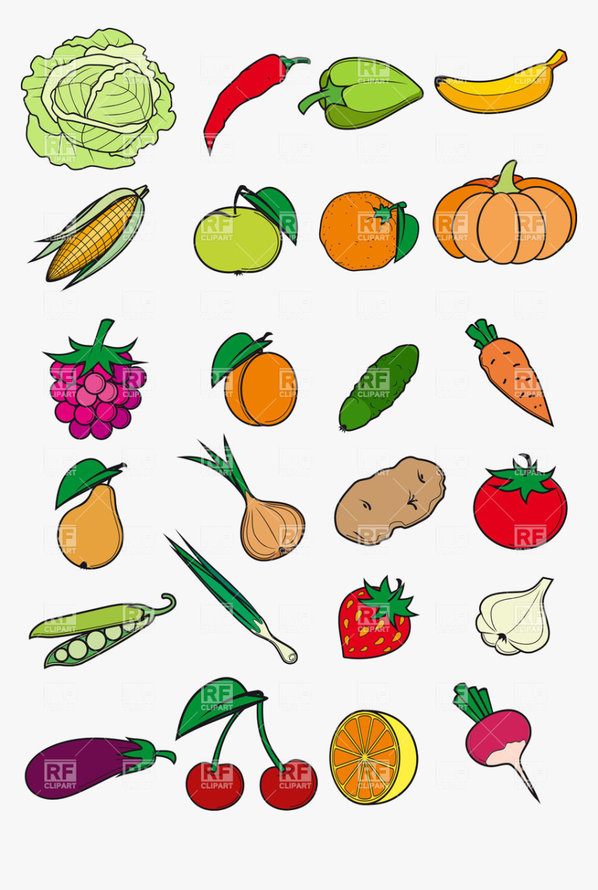 Healthy Food Vegetables Fruits And Berries In Cartoon Clipart Healthy Food Cartoon Hd Png Download Transparent Png Image Pngitem