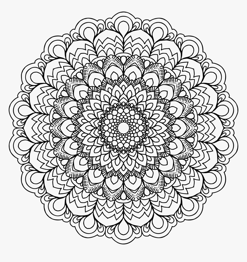 mandala drawing meditation printable adult colouring books hd png download transparent png image pngitem printable adult colouring books hd png