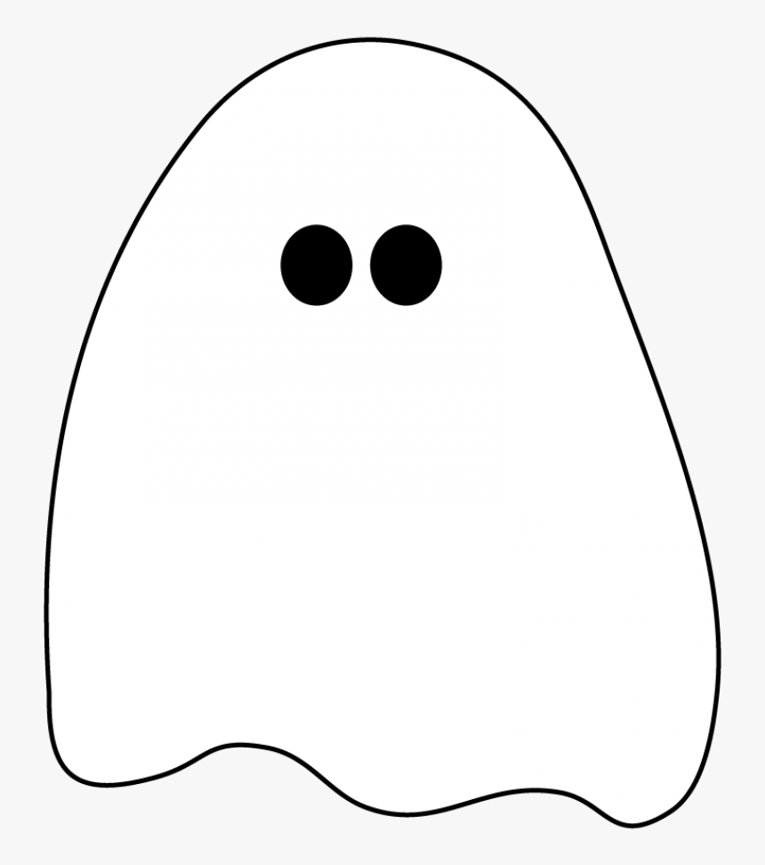 Halloween Ghost Clip Art Black and White