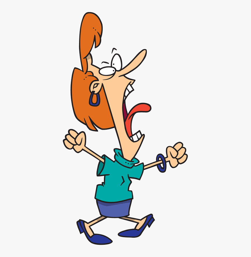 Screaming Royalty-free Cartoon Clip Art - Mother Yelling Cartoon ...