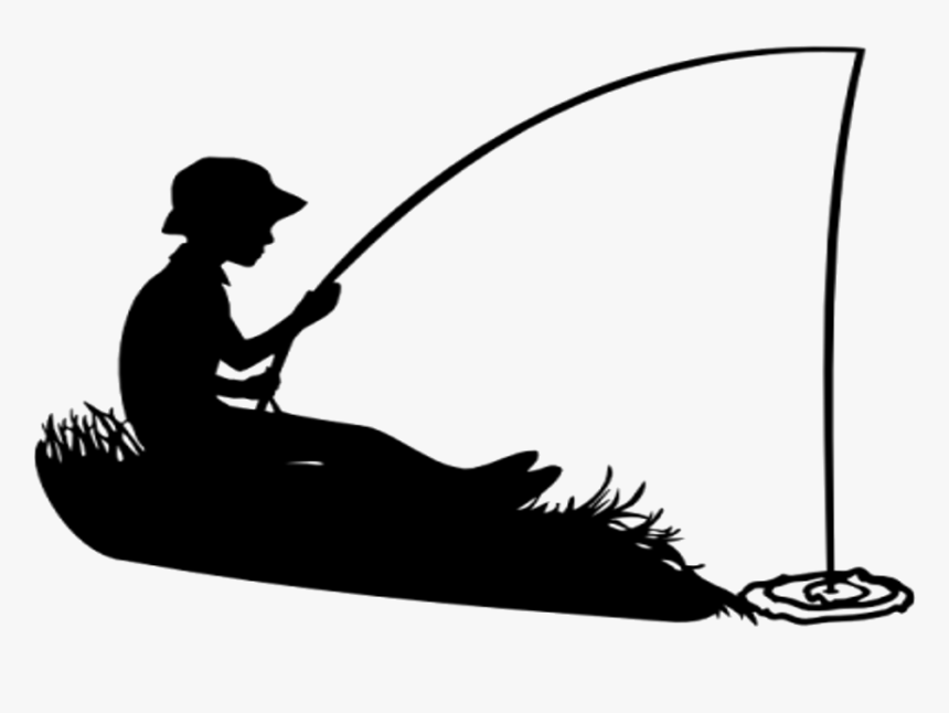 Transparent Fisherman Silhouette Png Black And White Fishing Silhouette Png Download Transparent Png Image Pngitem