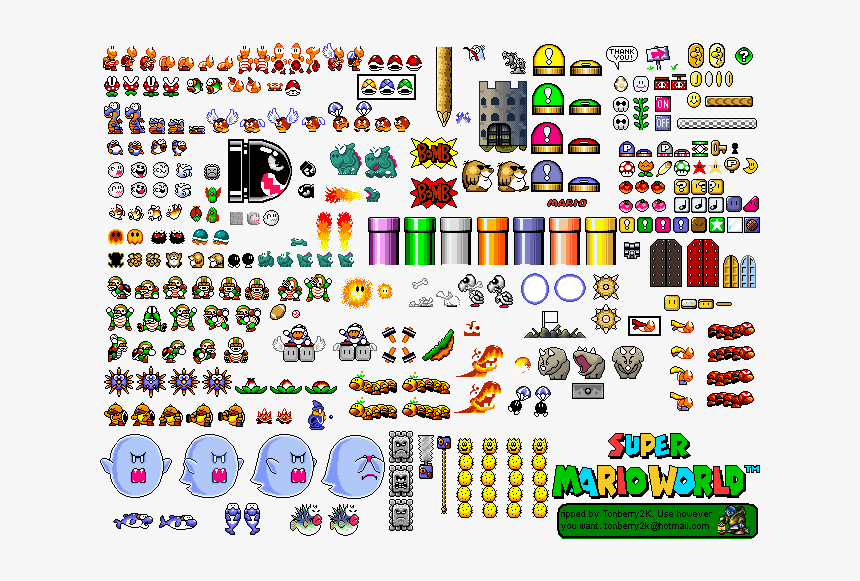 Super mario world sprites