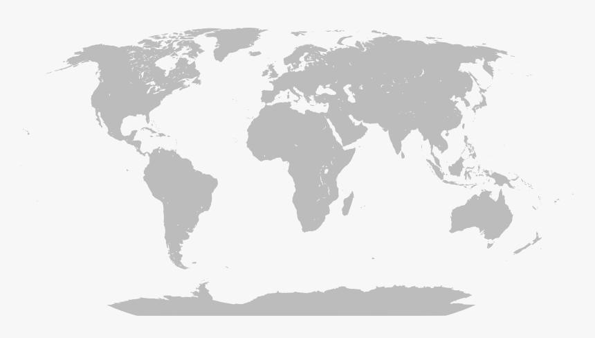 Blank Large World Map, HD Png Download , Transparent Png ...