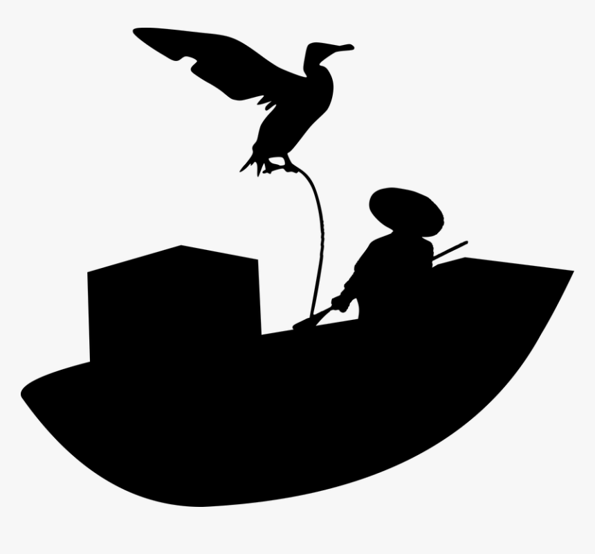 Fisherman Fishing Boat Silhouette Traditional Silhueta Pescadores Png Transparent Png Transparent Png Image Pngitem
