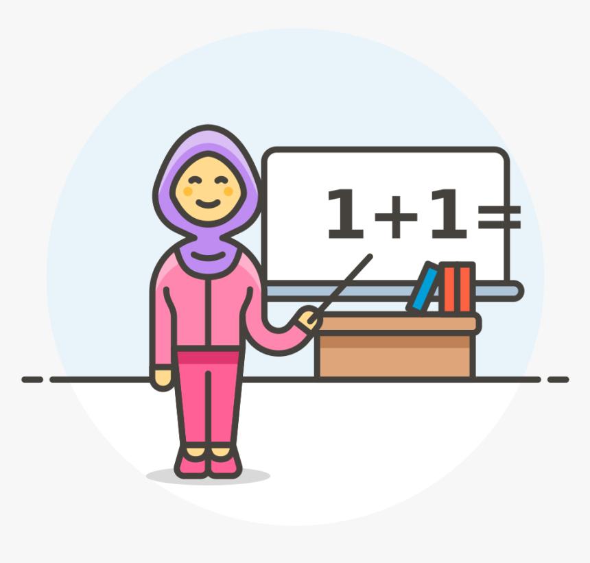 Math Teacher Illustration - Download Free Vectors, Clipart Graphics &  Vector Art