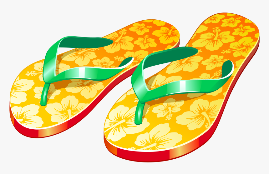 Transparent Sandals Clipart - Flip Flop Clipart, HD Png Download ...