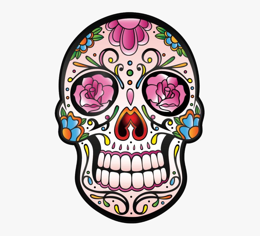 Transparent Girly Skulls Clipart Tete De Mort Mexicaine