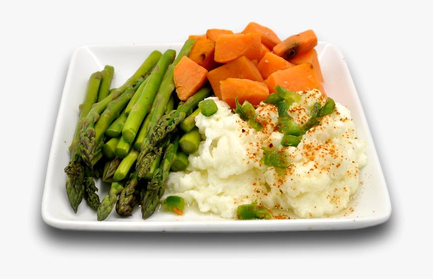 Spicy Egg White Asparagus Fit Plate Data Rimg Mashed Potato Hd Png Download Transparent Png Image Pngitem