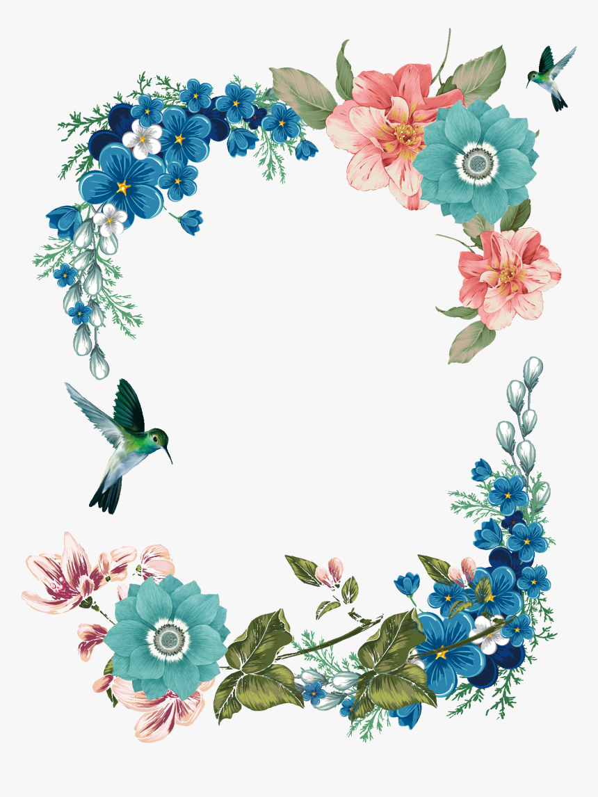 Floral Design Flower Icon Frame Flower Border Design Hd Png
