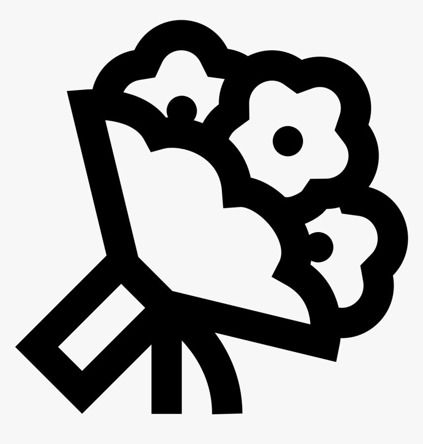 Transparent Flower Bouquet Clipart Black And White Transparent Bouquet Icon Png Png Download Transparent Png Image Pngitem