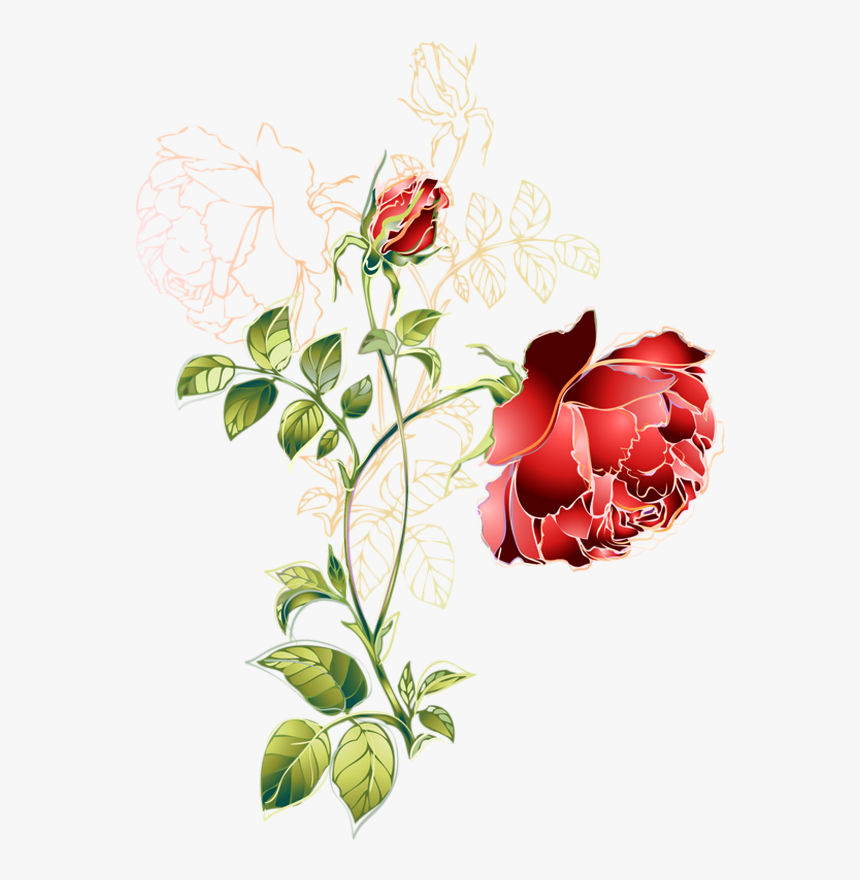Tube Rose Rouge Dessin Png Rose Transparent Png Transparent