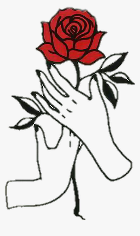 Rose Hands Aesthetic Tumblr Draw , Easy Aesthetic Rose