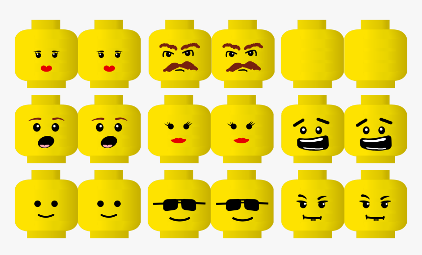 Lego Face Printable Free Tete Lego A Imprimer Hd Png Download