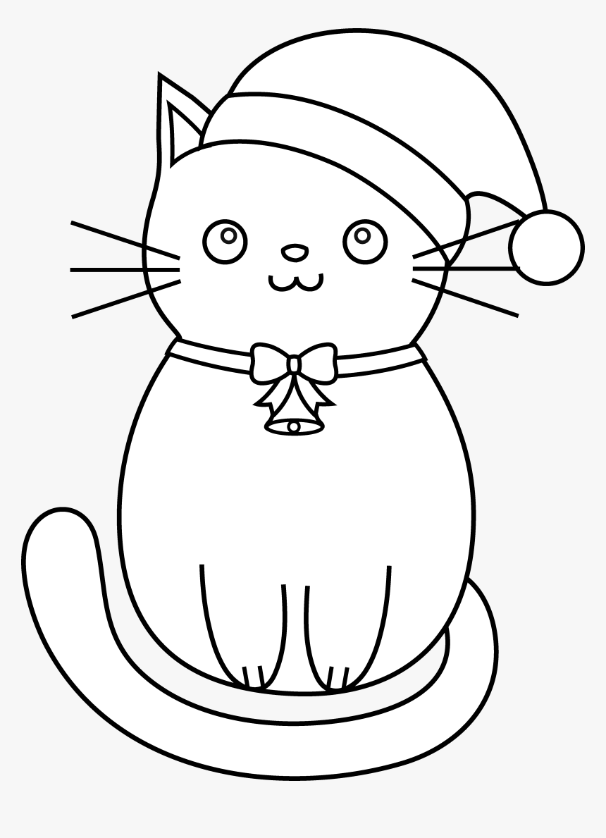 Pusheen Cat Clipart Coloring Pages Kawaii Easy Cat Drawing