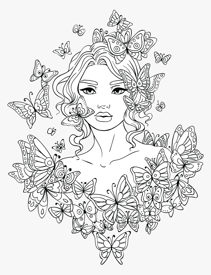 Woman Coloring Pages For Teens - Girl Colouring Pages For Adults