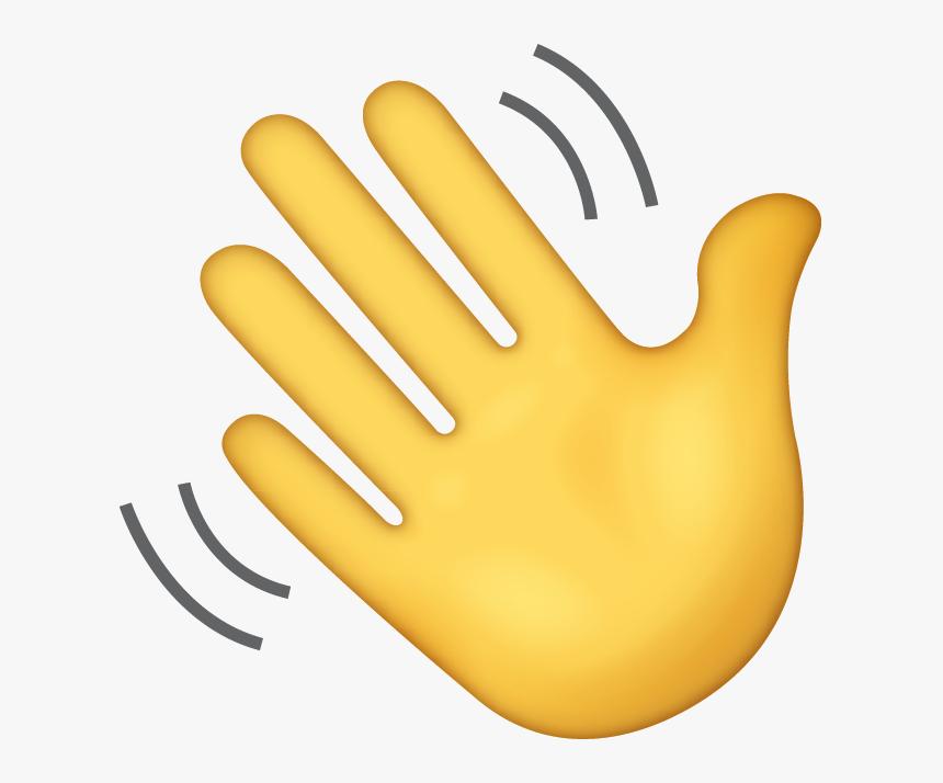 Transparent Waving Hand Emoji, HD Png Download ...