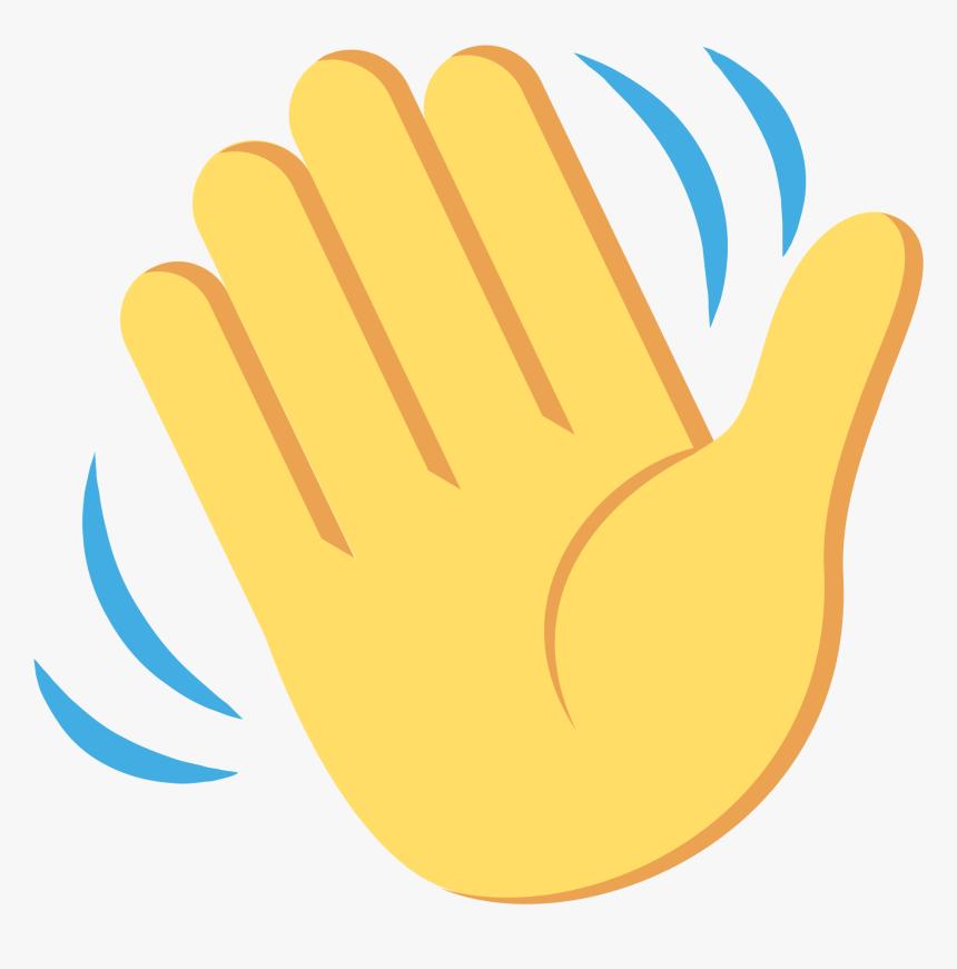 Waving Hand Emoji Svg , Png Download - Waving Hand Emoji ...