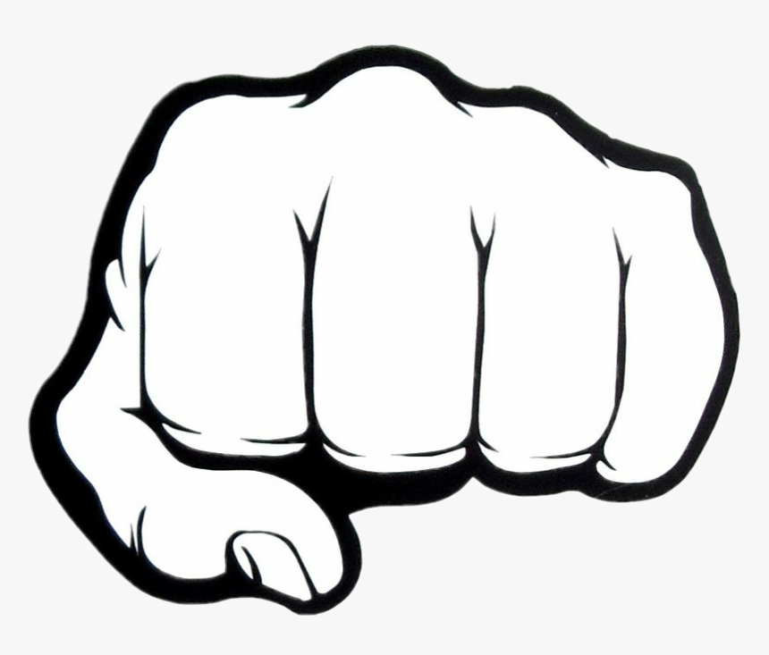Punch Punchsticker Sticker Fist Black And White Hd Png Download Transparent Png Image Pngitem