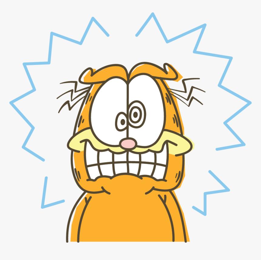 Garfield Line Messaging Sticker Scared Garfield Transparent Background Hd Png Download Transparent Png Image Pngitem