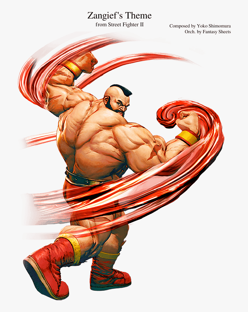 Street Fighter Characters Zangief Hd Png Download Transparent