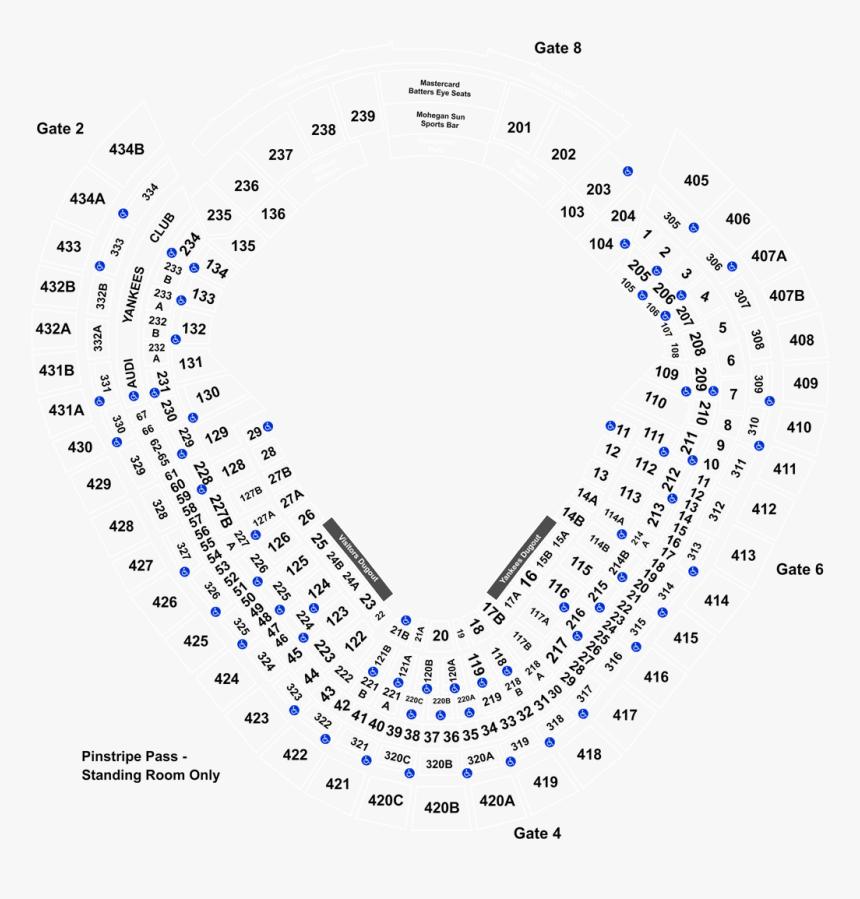 Yankee Stadium Seating Chart 2019, HD Png Download ...