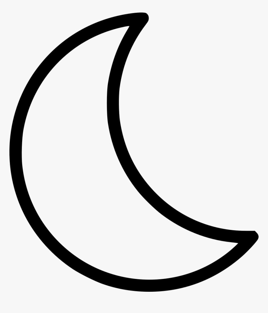 Transparent Crescent Moon Clipart Png Half Moon Cartoon Black