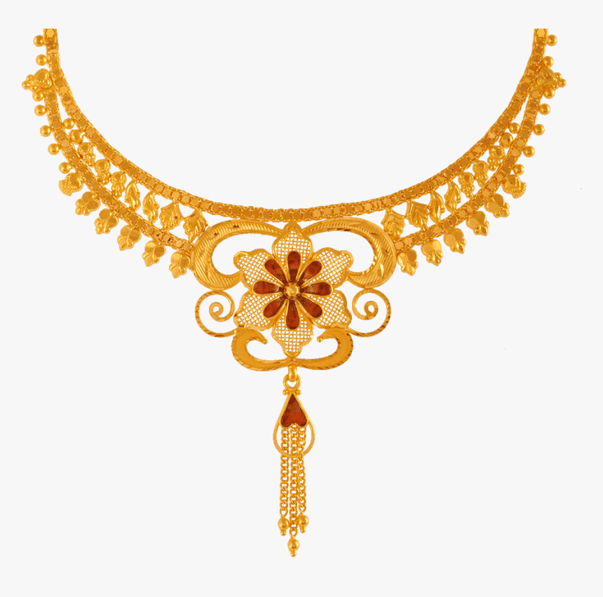 Chandra Jewellers 22kt Yellow Gold Necklace For Women Pc Chandra Jewellers Necklace With Price Hd Png Download Transparent Png Image Pngitem