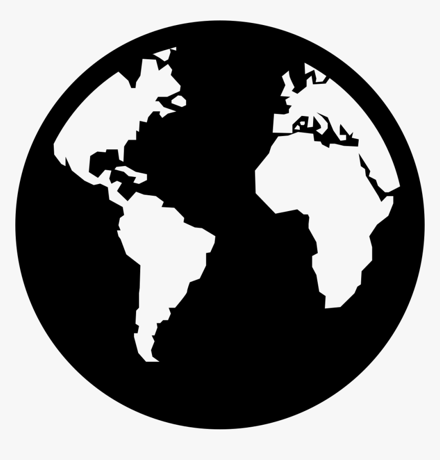 World Map Globe Vector Graphics World Map Icon White Hd Png