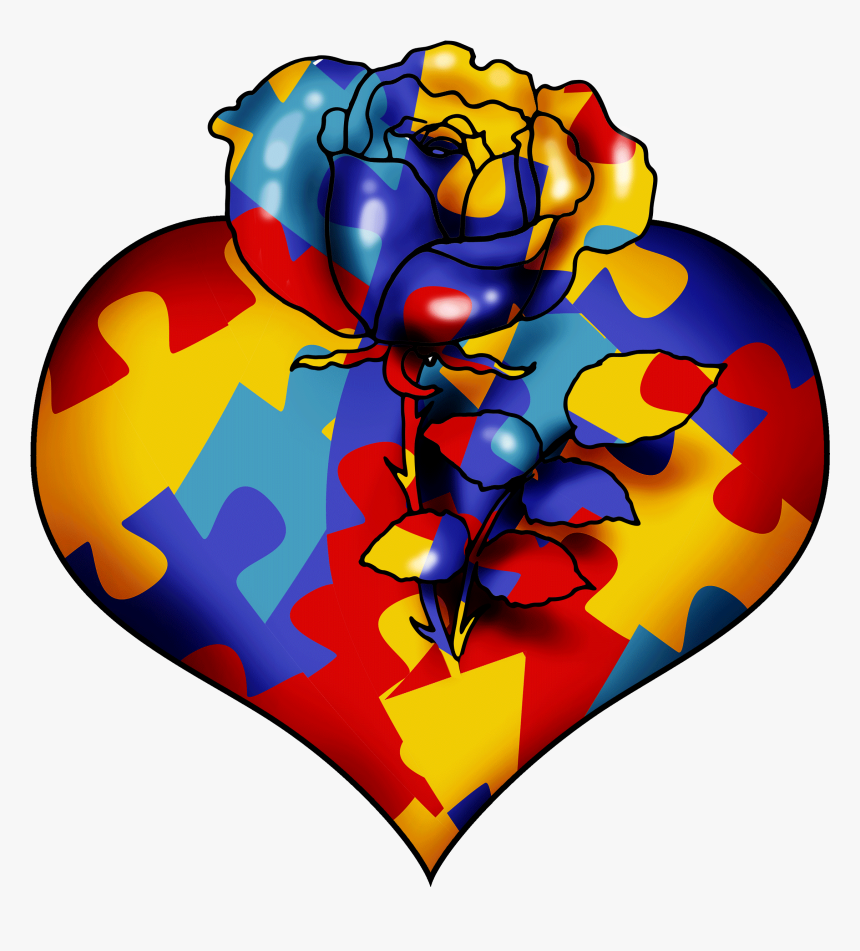 Autism Heart Solo Illustration Hd Png Download Transparent Png Image Pngitem