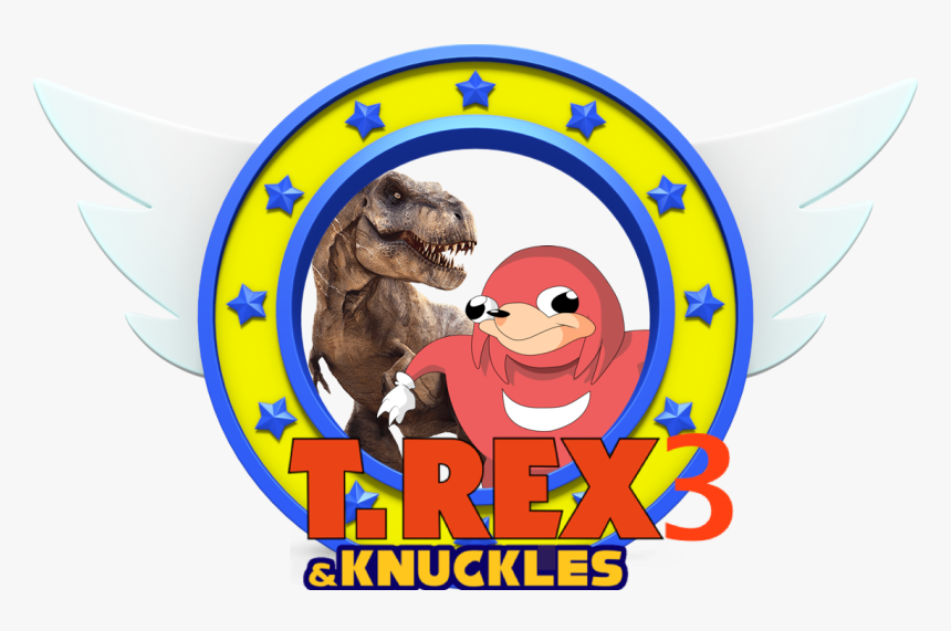 T Rex 3 And Knuckles Sonic The Hedgehog Rings Png Transparent Png Transparent Png Image Pngitem