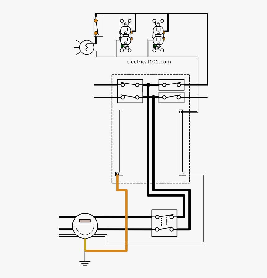Electrical Panel And Circuit Wiring, Circuit Wiring Diagram