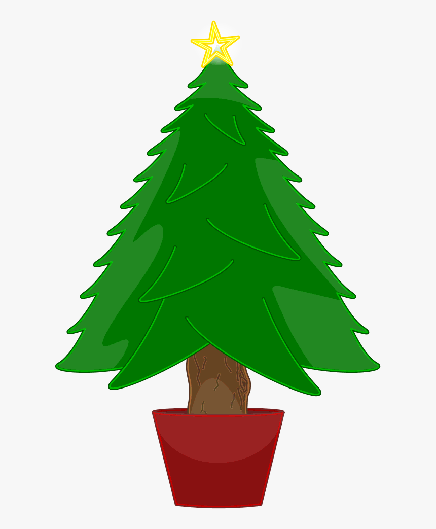 Christmas Tree Not Decorated Cartoon Clipart Png Transparent Background Christmas Trees Clipart Png Download Transparent Png Image Pngitem