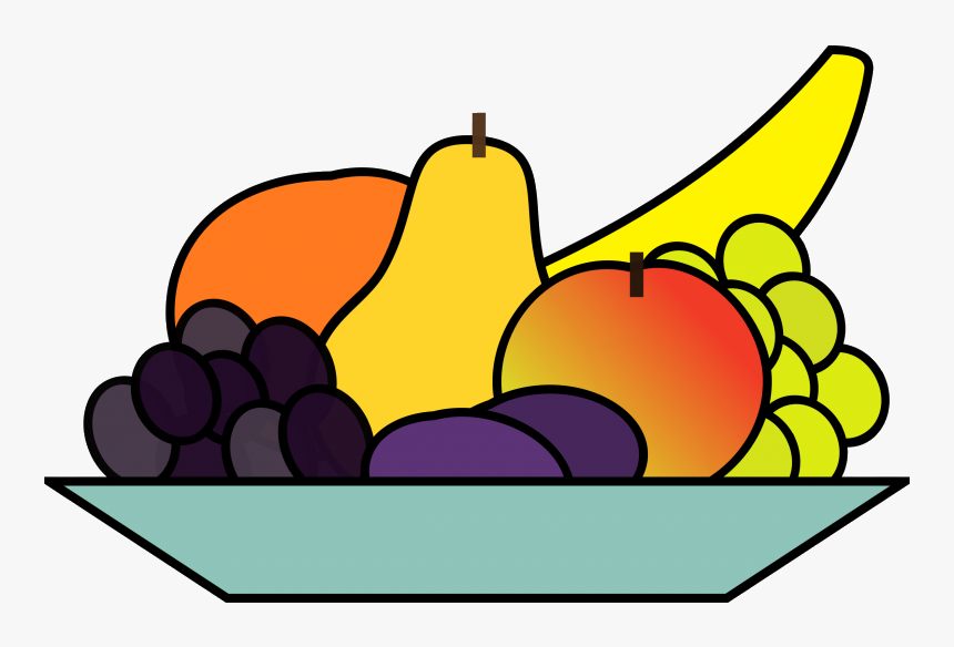 Healthy Food View Fruits Clipart Free Nutrition And Fruits On A Plate Drawing Hd Png Download Transparent Png Image Pngitem