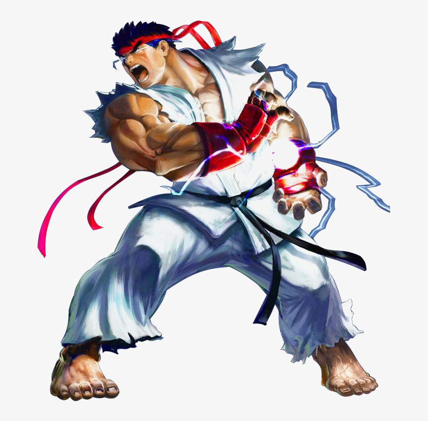 Hadouken Ryu Street Fighter Png Transparent Png Transparent