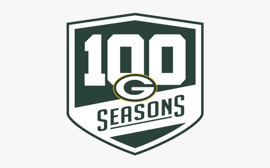 180518 100 Seasons Logo Green Bay Packers 100 Seasons Hd Png Download Transparent Png Image Pngitem