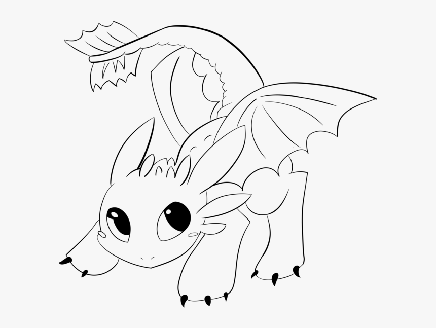 Toothless Lineart By Araly Easy Baby Toothless Drawing Hd Png Download Transparent Png Image Pngitem