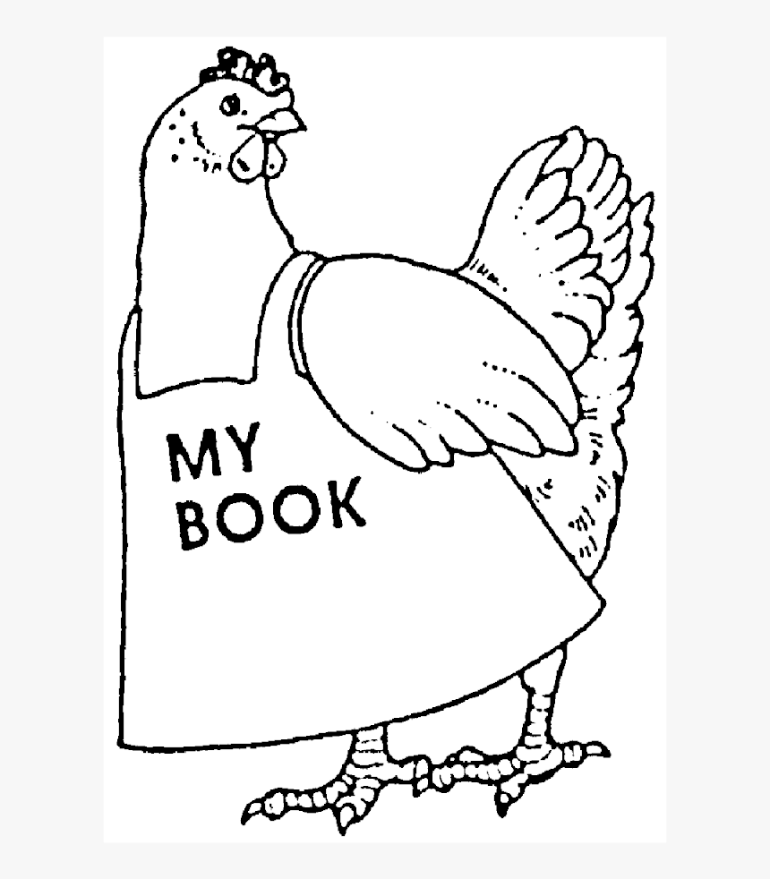 Chicken My Book - Little Red Hen Coloring Pages, HD Png Download