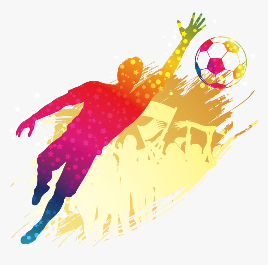Player Football Silhouette Goalkeeper Poster Free Clipart Transparent Background Sport Png Png Download Transparent Png Image Pngitem