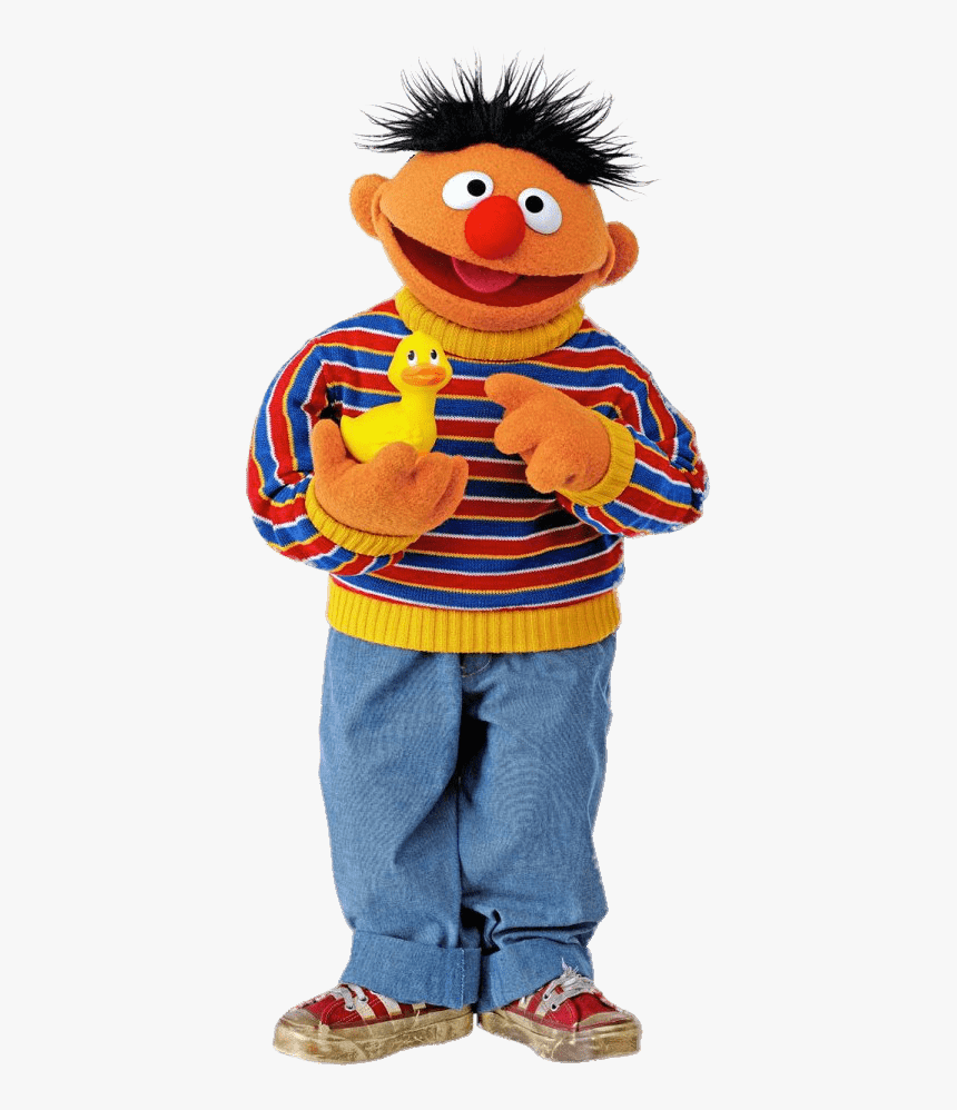 Sesame Street Ernie With Duck Bert Ernie Hd Png Download