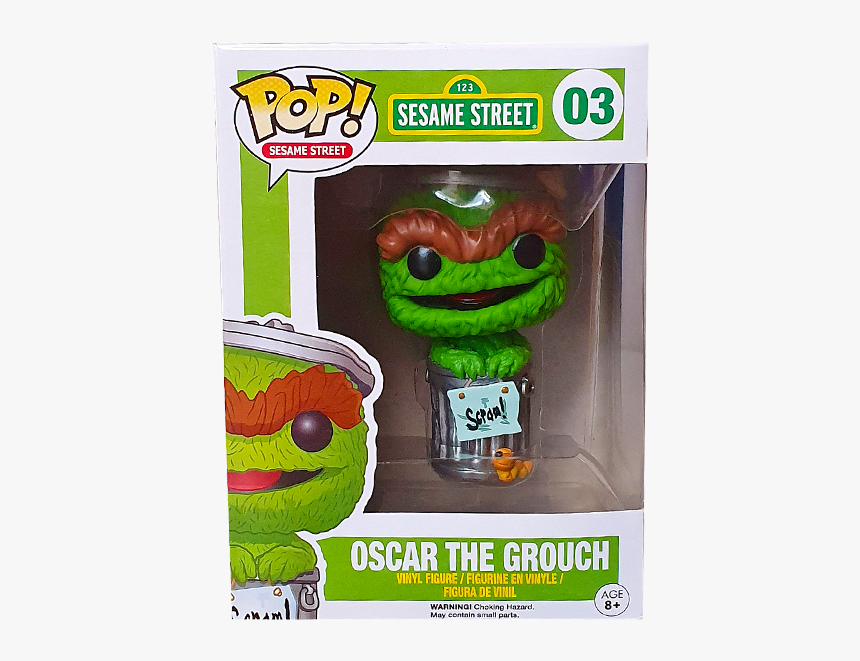 Oscar The Grouch Pop Figure Hd Png Download Transparent