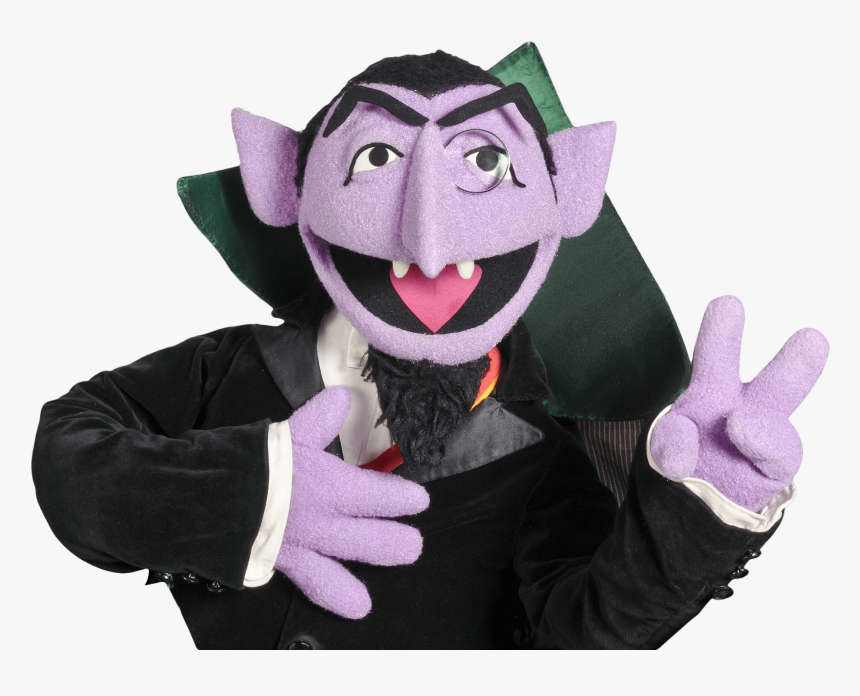 Sesame Street Count Von Count Peace Sign Count Sesame